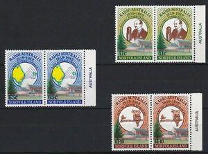 NI131) Norfolk Island 1989 Radio Australia MUH pairs