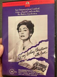 Mommie Dearest region 4 DVD (1981 Faye Dunaway drama movie about Joan Crawford)
