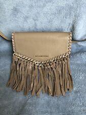 Michael Kors Pebble Leather & Suede Fringe Fanny Pack Belt Bag