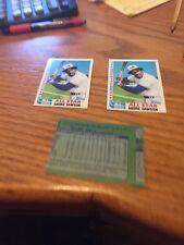 1982 Topps Baseball Andre Dawson/ Marc Hill Mint--3 card lot  Error lot