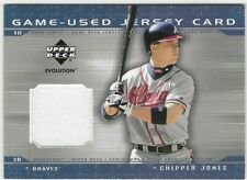 2001 Upper Deck Baseball - Evolution Game JERSEY - #JCJ - CHIPPER JONES