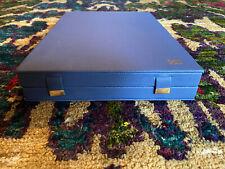 Ecrin pour Collier - Boite bijoux - Cuire Bleu - Magnifique Qualite