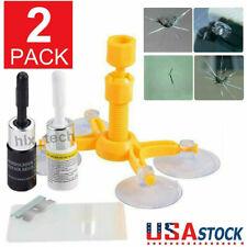 2-Pack Auto Glass Nano Repair Fluid Diy Car Windshield Resin Crack Tools Kit