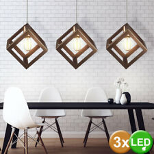 3x Vintage LED Filament Decken Lampen champagner gold Hänge Leuchten dimmbar