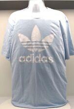 Adidas Shirt ORIG TREFOIL T SIZE XL BABY BLUE-FREE SHIPPING BRAND NEW