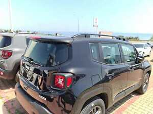 Black Roof Baggage Luggage Rack Bar Rail Port FIT FOR Jeep Renegade 2014-2022