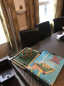 VINTAGE RETRO WOODEN TABLE TOP GAME PULL UP SKITTLES - BY KAY OF LONDON