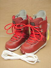 New Nos Burton Womens Red Sapphire Snowboard Boots Us 7 / Eu 38 / Uk 5 / Jpn 24