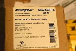 ARROW/HART 60W33DPLX Duplex Watertight Receptacle 5-20R