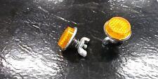2 New Orange Metal Backed Muscle Bike Reflectors fits Schwinn Stingray Bicycle