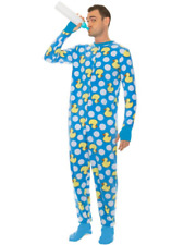 """BABY DUCK PAJAMAS HALLOWEEN COSPLAY COSTUME NEW MENS SZ MED UP TO HEIGHT 5'7"""""""