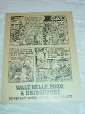 Walk Kelly Pogo Exhibit Poster 1977 Bridgeport Public Library