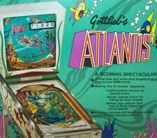 Atlantis Pinball FLYER Original NOS Gottlieb 1975 Game Art Non Circulated Scarce