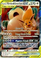 Eevee & Snorlax GX (ULTRA RARE) SM Tag Team Up 120/181 Pokemon Sun And Moon - LP