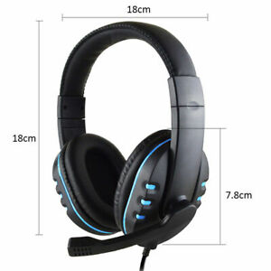 3.5mm Gaming Headsets Stereo Over-ear Headphone Wired Mic For Ps4 Xbox one PC