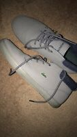 Lacoste Men Grey Mid Shoes Chukka Size 11.5 Great Amazing Condition