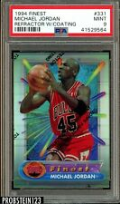 1994 Finest Refractor w/ Coating Michael Jordan Chicago Bulls HOF PSA 9 MINT