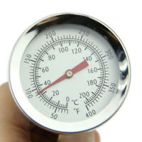 BBQ Smoke Grill Thermometer Gauge Temp Barbecue Camping Cook Wide Temperature