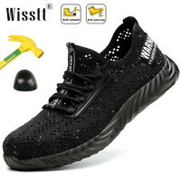 Men's Safety Work Shoes Indestructible Steel Toe Bulletproof Boots Mesh Sneakers
