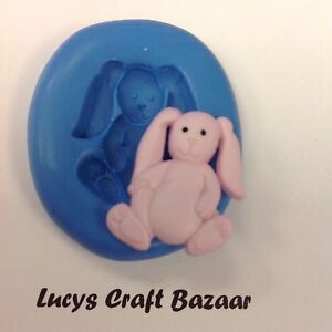 Silicone Mould New Baby Rabbit Toy Sugarcraft Cake Decorating Topper Sculpey Ice