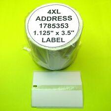 3 Rolls High Capacity Address Labels fit Dymo  4XL 1785353 - BPA Free