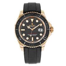 Rolex Yacht-Master 116655 Cuadrante negro Reloj Para Hombres Automático Oro Rosa 18K