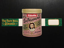 Vintage 1960-70 Abbotts Old Philadelphia Ice Cream Counter Card/Sign