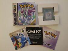 Pokemon Cristallo Nintendo Game Boy Color COMPLETO Originale ITA +Box Protector