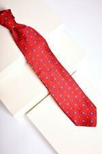 Bold ROBERT TALBOTT CARMEL Red Blue Trad Medallion Floral 100% Silk Tie Made USA