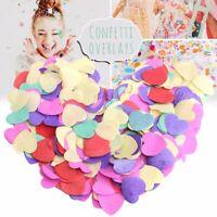 Multi Color Heart Shape Confetti Tissue Paper Wedding Party Decor Biodegradable