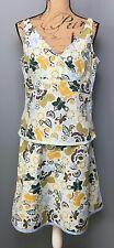 Aventura Clothing 2-Pc Dress Floral Tank Top & Skirt Organic Cotton Size L/12