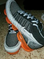 Nike Air Vapormax Flyknit 2 Safari Men's Size 10 White/Black/Orange 942842-106