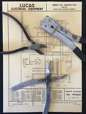 SINGER 9 CV ROADSTER. LUCAS diagramma di cablaggio (W20201)