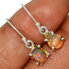 Sterling Silver Earring Jewelry Ae134081 New listing Ethiopian Opal Rough 925