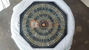 Marble Black Top Coffee Custom Top Table Pauashell Inlay Mosaic Arts Home Decor
