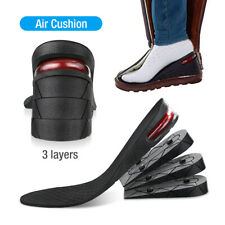 9cm Men Shoe Lift Insole Air Cushion Heel insert Increase Taller Height 3-Layer