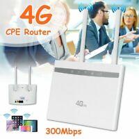 Car 4G LTE Hotspot WiFi Router Sim Card Modem Wireless CPE Repeater Dual Antenna