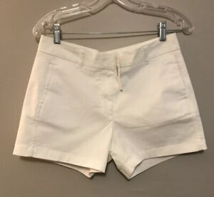 """NWT J. Crew 4"""" Re-Imagined Chino Stretch Shorts White size 4 NWT"""
