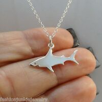 Great White Shark Necklace - 925 Sterling Silver Shark Charm Jewelry Ocean NEW