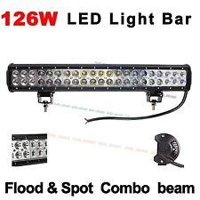 "20"" 126W CREE LED Work Light Bar Alloy Spot Flood Combo Offroad 4WD Trailer Car"