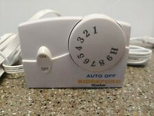 Biddeford Electric Blanket Heat Controller Tc11Ba White On/Off Switch Heat Dial