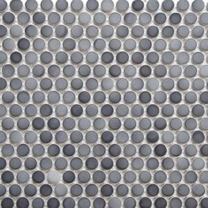 Grey Mix Penny Round Porcelain Mosaic Tile