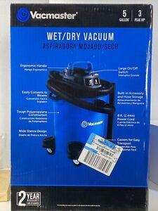 Vacmaster 5 Gallon 3.0 Peak HP Wet Dry Vacuum VOC507PF