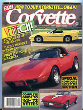 Car Craft Magazine Corvette 1988 VetteTech! EX 022916jhe