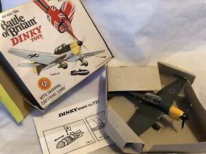 VINTAGE DINKY TOYS JUNKERS JU-87 STUKA WW2 FIGHTER DIVE BOMBER PLANE, BOMB, BOX