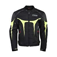 XTRON Mens Textile Waterproof Motorcycle Jacket Motorbike CE Armoured Suit New