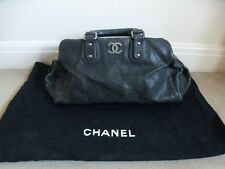 CHANEL Caviar Leather Diamond Stitch Outdoor Ligne Doctor Bag In Black & Dustbag
