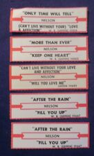 Lot of 5 Jukebox Tags 45 Rpm Title Strips Nelson