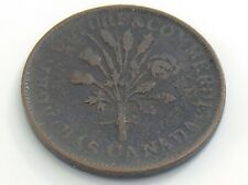 Lower Bas Canada Montreal Bouquet Un Sou with Agriculture Commerce Token I825