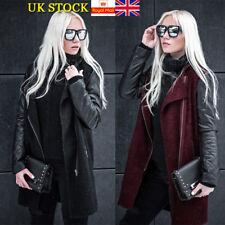 Plus Size Women Winter Long Sleeve Zip Up Coat Jacket Long Parka Outwear 16-24